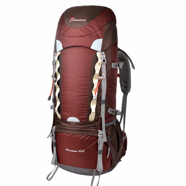 Backpacks And Sleeping Bags MountainTop Heavy Duty Internal Frame Camping Backpack