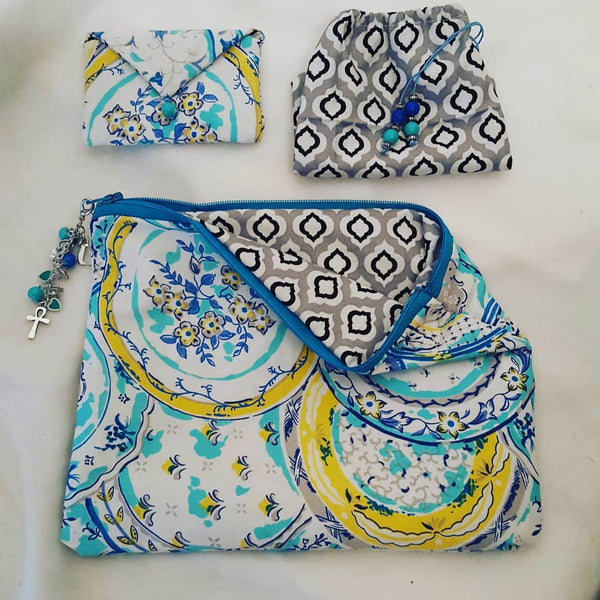 Create With Me: Zipper Pouch, Card Holder & Drawstring Accessory Bag