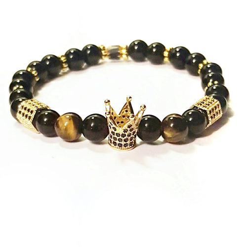 Gold Crown Bracelet