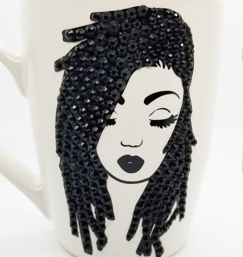 Bling Locs Rhinestone Coffee/Tea Mug
