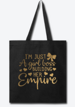 Girl Boss Tote Bag - I Am Unique Unique Carper, Black Owened Business