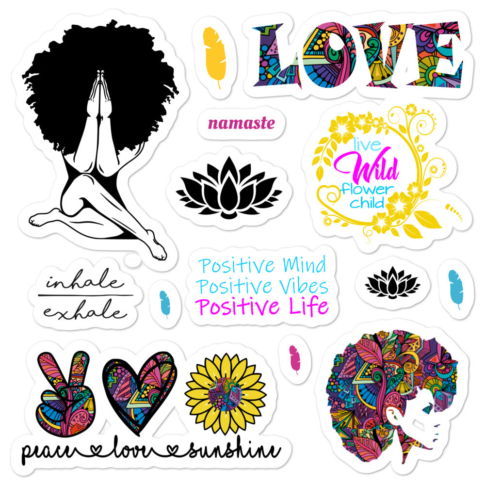 Positive Life Stickers - I Am Unique Unique Carper, Black Owened Business