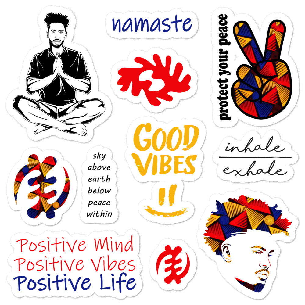Positive Life Men's Stickers