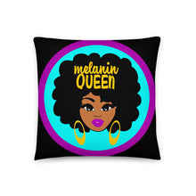 Melanin Queen Throw Pillow