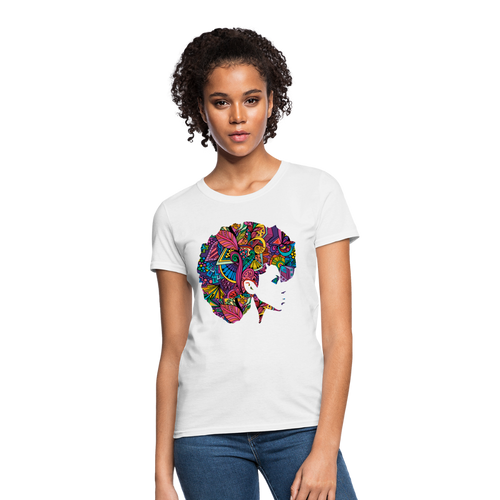 Marusha Afro Women's T-Shirt - white