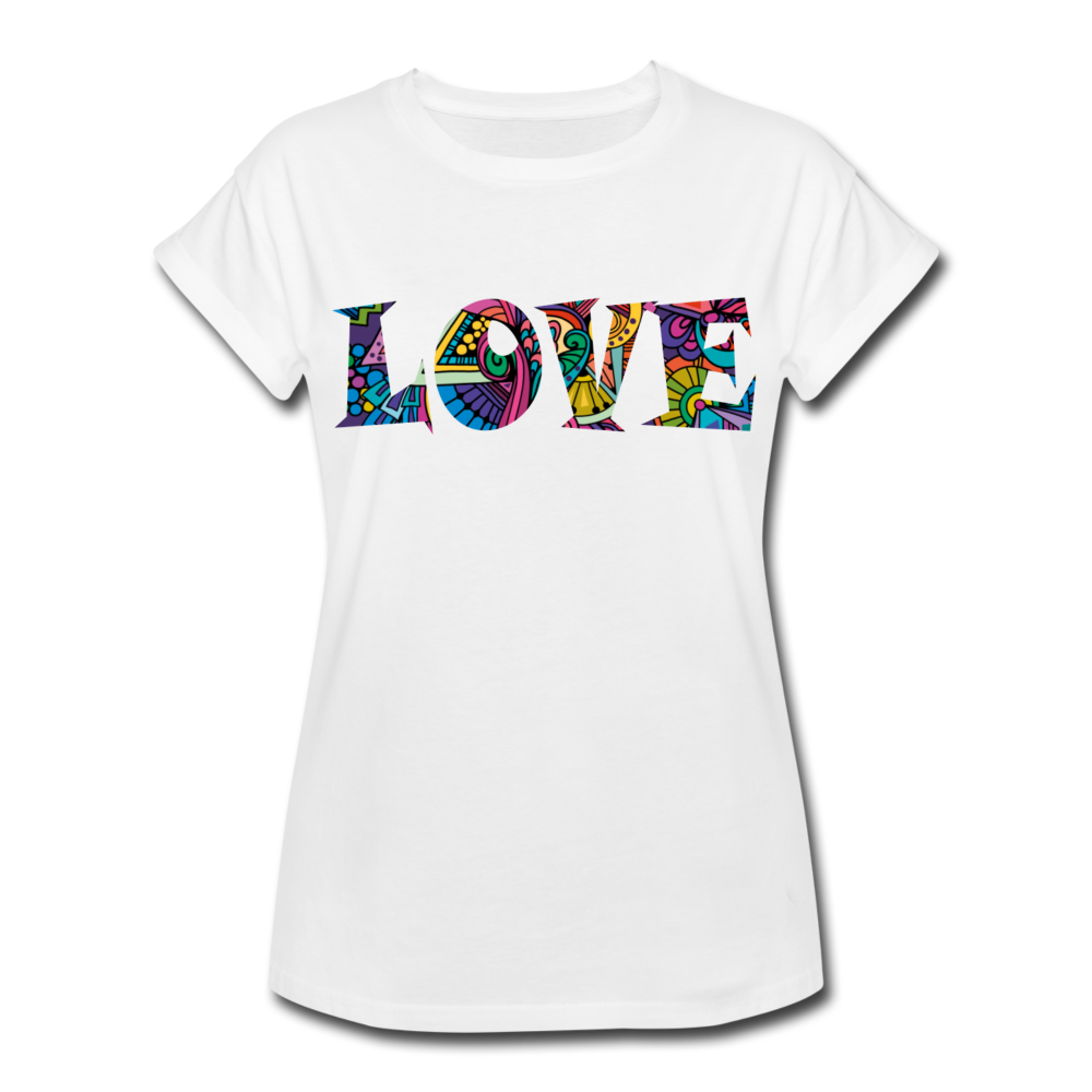 Marusha Love Women's Relaxed Fit T-Shirt - white