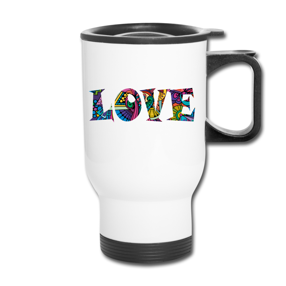 Marusha Love Travel Mug - white