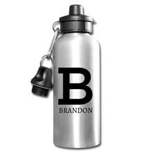 Personalized Water Bottle - silver