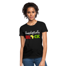 Unapologetically Black Women's T-Shirt - black
