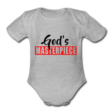God's Masterpiece Short Sleeve Baby Bodysuit - heather gray