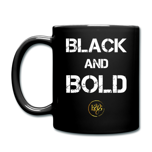 Black & & Bold Mug - Black Design Facing Outward - black