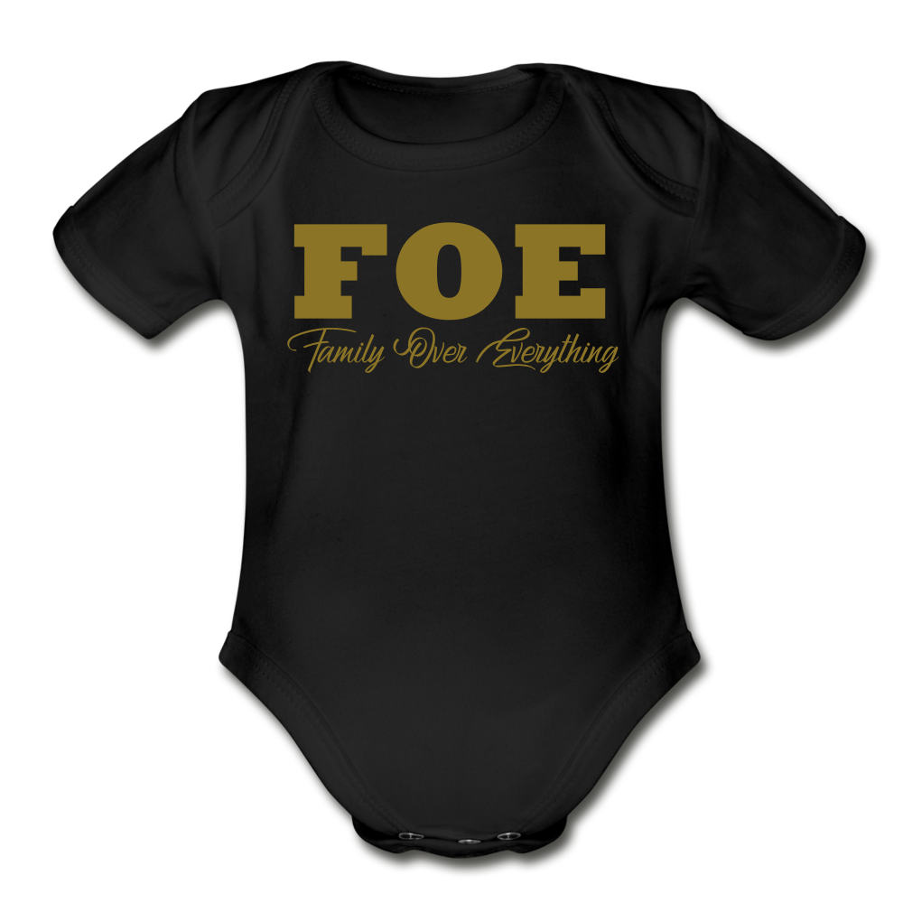 Family Over Everything  Baby Bodysuit - black