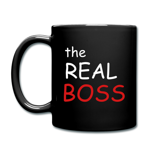 The Real Boss Full Color Mug - black