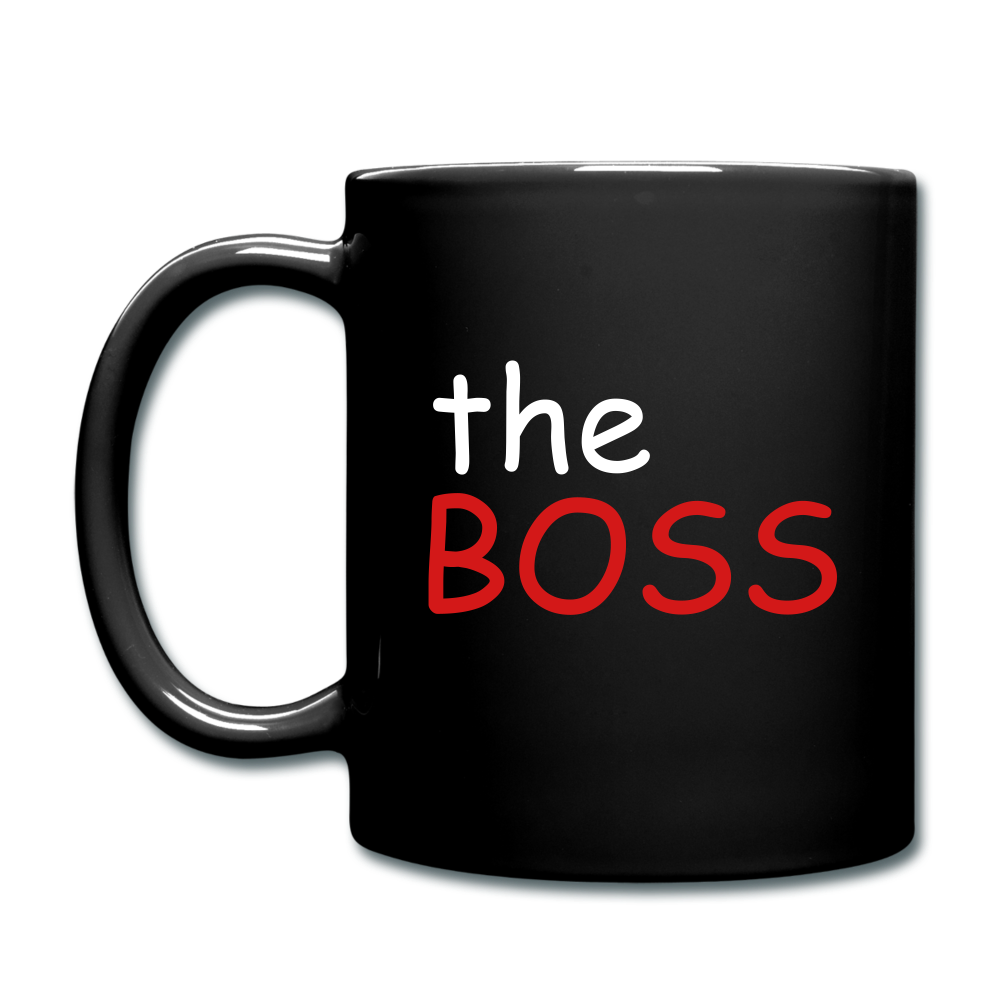 The Boss Full Color Mug - black
