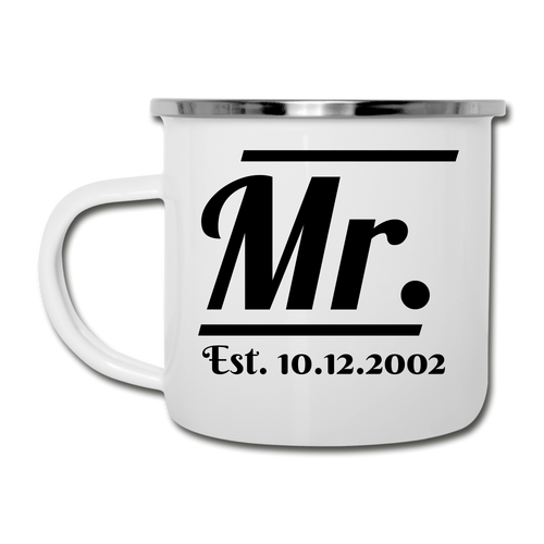 Mr. Couple Camper Mug - white