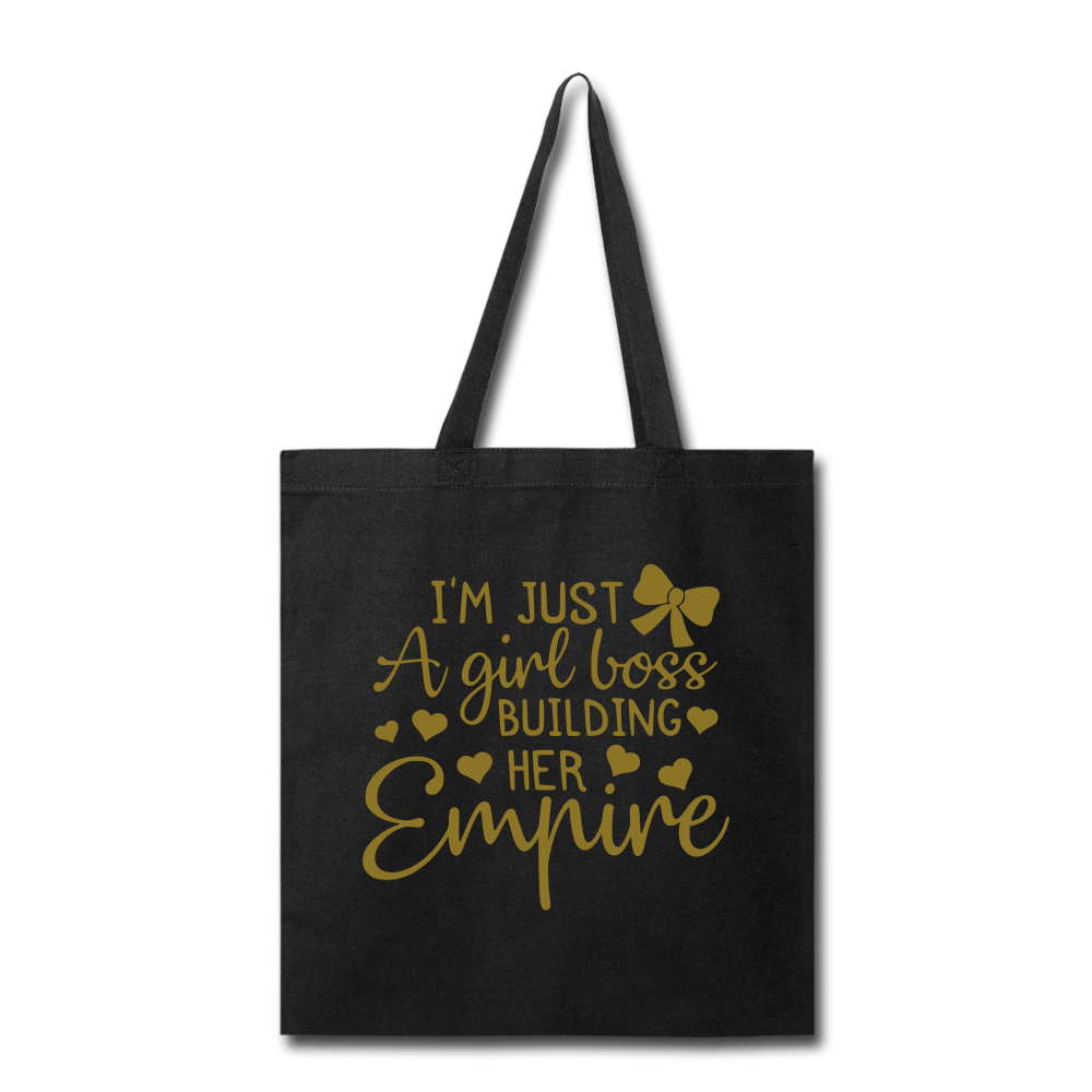 Girl Boss Tote Bag - black