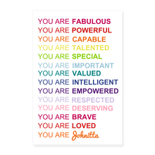 Your Are.... Empowerment Poster - white