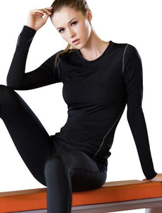 Quick-Dry Long-Sleeved Compression Top - Lil and Cole