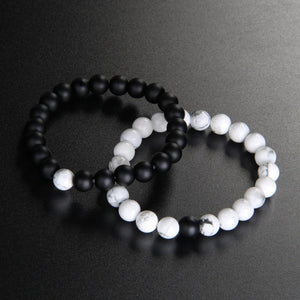 Black and White Natural Stone Bracelet