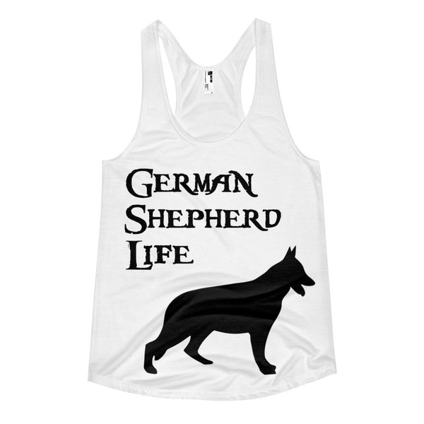 Women's racerback tank - German Shepherd Life - Love German Shepherds? Grab this!