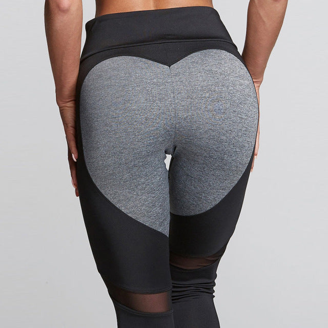 Mesh Heart Leggings