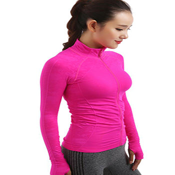 Fit Trainer Zip Up Long Sleeve