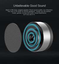 Tiso T10 Bluetooth speaker metal mini portable wireless 10-15 hours playtime 5W loudspeaker outdoor IPX5 waterproof AUX TF MIC