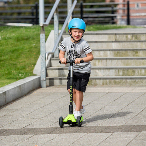 Kick scooter helps kids develop motor skills, balance coordination, muscle strength