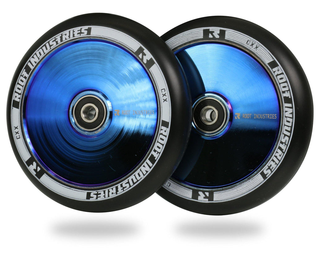 Root Industries AIR wheels for freestyle stunt scooters - 110mm Blue Ray / Black