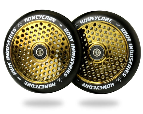 Root Honey Core Wheels for freestyle stunt scooters - 110mm Gold