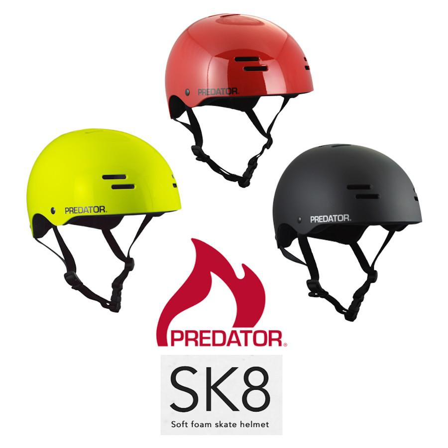Pumpanickel Sports Shop Predator SK8 Soft Foam Skate Helmet Matt Black