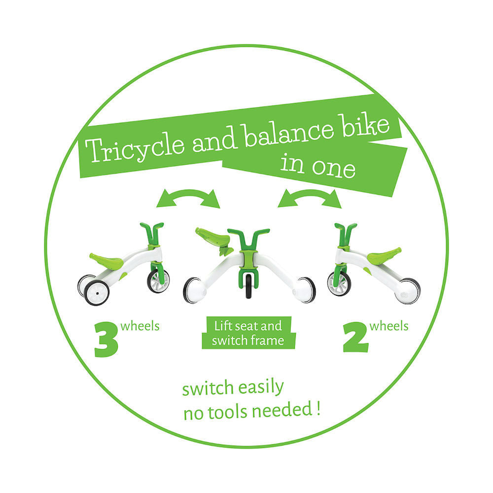 Chillafish Bunzi 2-in-1 Gradual Balance Bike Lime. Shop Chillafish Bunzi Singapore | Pumpanickel