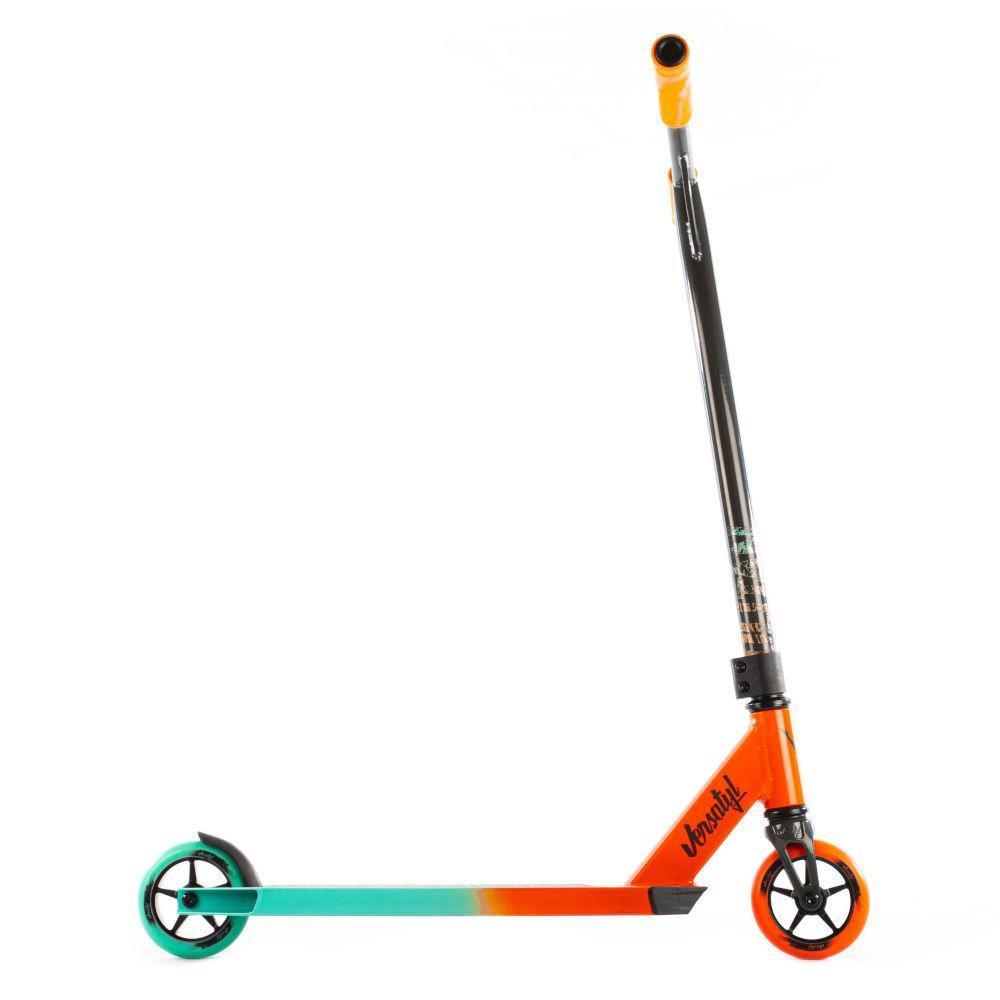 Pumpanickel Sports Shop. Versatyl Cosmopolitan V2 Complete Stunt Scooter Orange Blue Black For Young Beginners. Buy trick scooter online Singapore