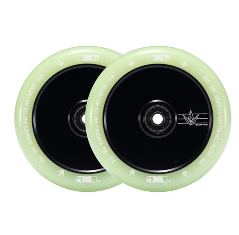 Envy Hollow Core 110 Wheels for freestyle stunt scooters - Glow in the dark design