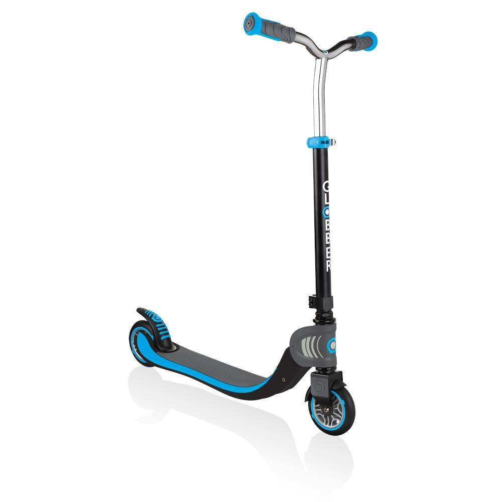 Shop Singapore Pumpanickel Sports Shop Buy Globber Flow 125 Foldable 2-Wheels Kick Scooter - Black-Sky Blue