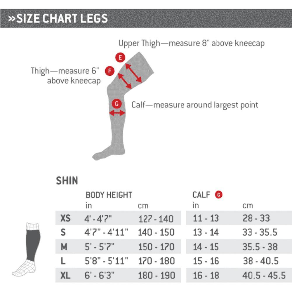 Pumpanickel Sports Shop G-Form Pro-S Elite Shin Guard for soccer football, BMX, longboarding Size Chart