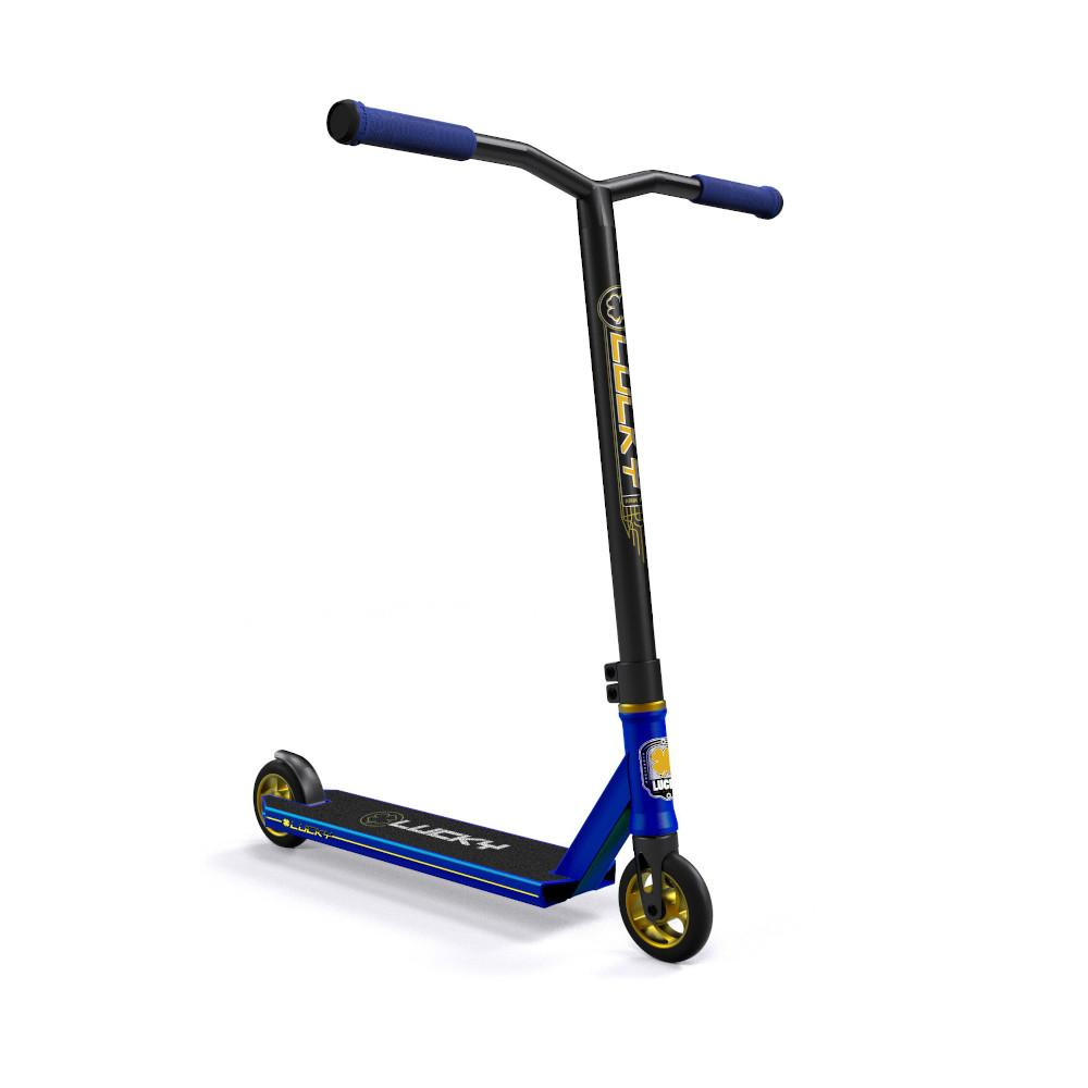 Lucky Crew Freestyle Scooter / Stunt Scooter / Trick Scooter - Blue Royale Blue Gold Black