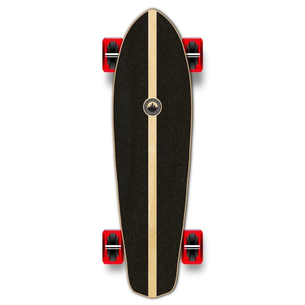 Pumpanickel Sports Shop Yocaher Micro Cruiser Complete Longboard Wave Graphic