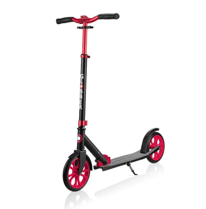 Shop Singapore Pumpanickel Sports Shop Buy Globber NL500-205 Foldable 2-Wheels Kick Scooter - Black-Red