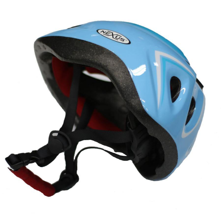 Pumpanickel Sports Shop Nexus kids helmet with adjustable straps & dial. Sizes S & M for age 2 years & up. Blue