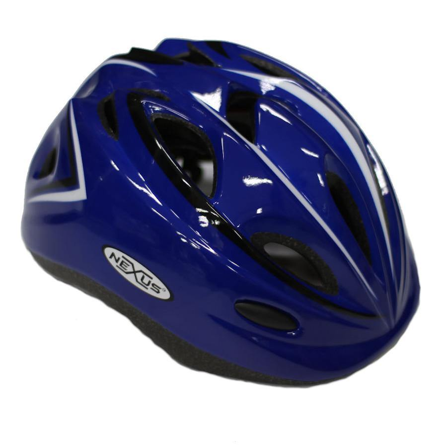 Pumpanickel Sports Shop Nexus kids helmet for kids when they are out skating, scooting or cycling. Sizes S & M for age 2 years & up. Navy Blue