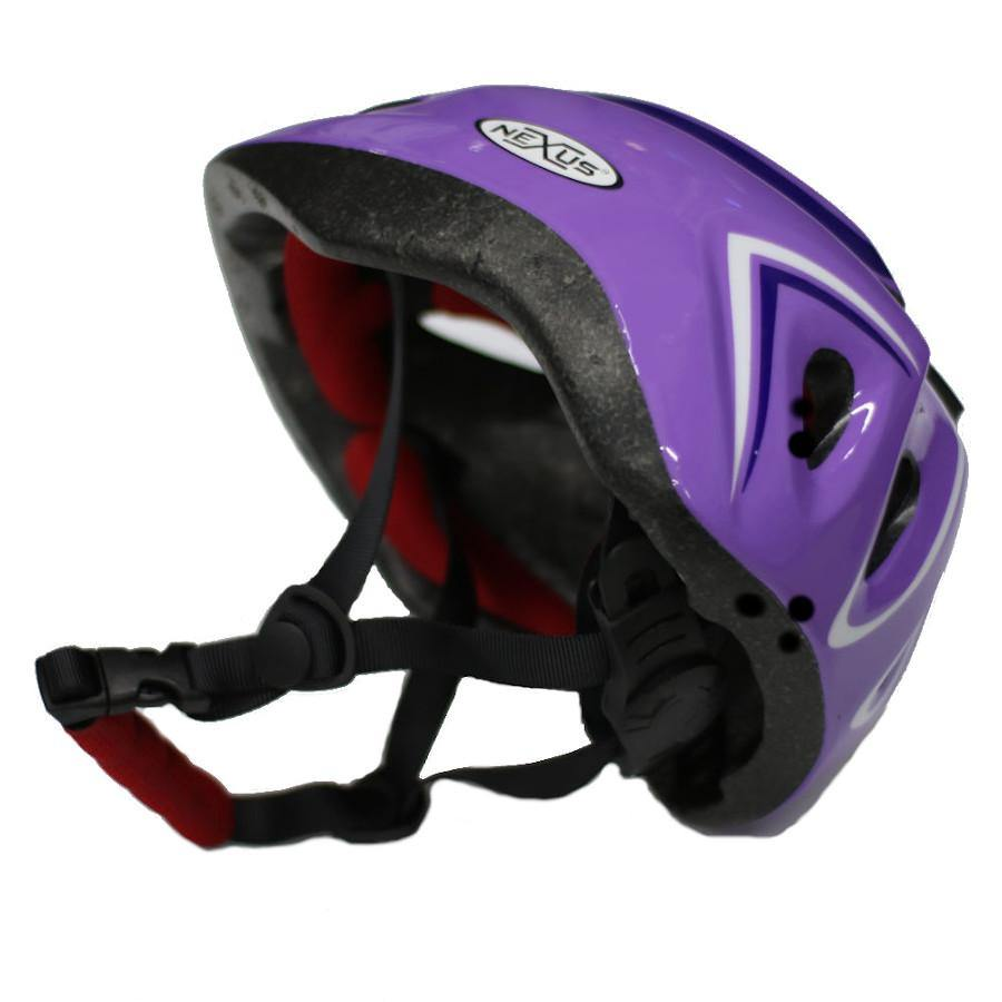Pumpanickel Sports Shop Nexus kids helmet with adjustable straps & dial. Sizes S & M for age 2 years & up. Purple