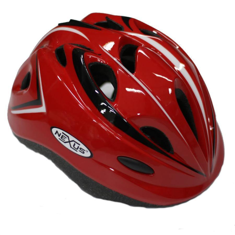 Pumpanickel Sports Shop Nexus kids helmet for kids when they are out skating, scooting or cycling. Sizes S & M for age 2 years & up. Red