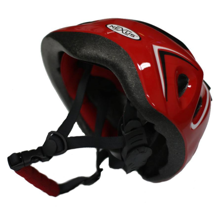 Pumpanickel Sports Shop Nexus kids helmet with adjustable straps & dial. Sizes S & M for age 2 years & up. Red
