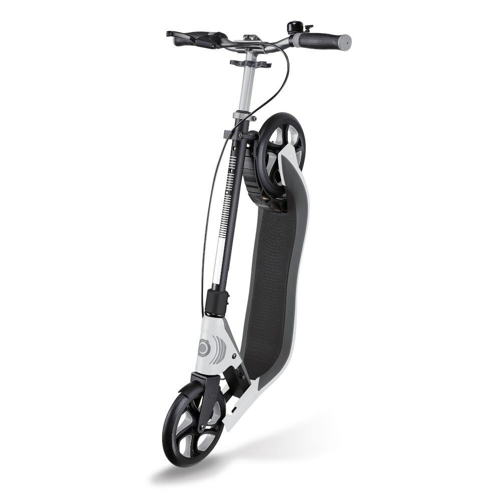 Shop Singapore Pumpanickel Sports Shop Buy Globber One NL205 Deluxe Foldable 2-Wheels Adult Kick Scooter with Hand Brake and Bell- White/Dark Grey
