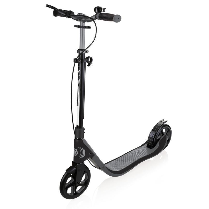 Shop Singapore Pumpanickel Sports Shop Buy Globber One NL205 Deluxe Foldable 2-Wheels Adult Kick Scooter with Hand Brake and Bell- Titanium/Charcoal Grey
