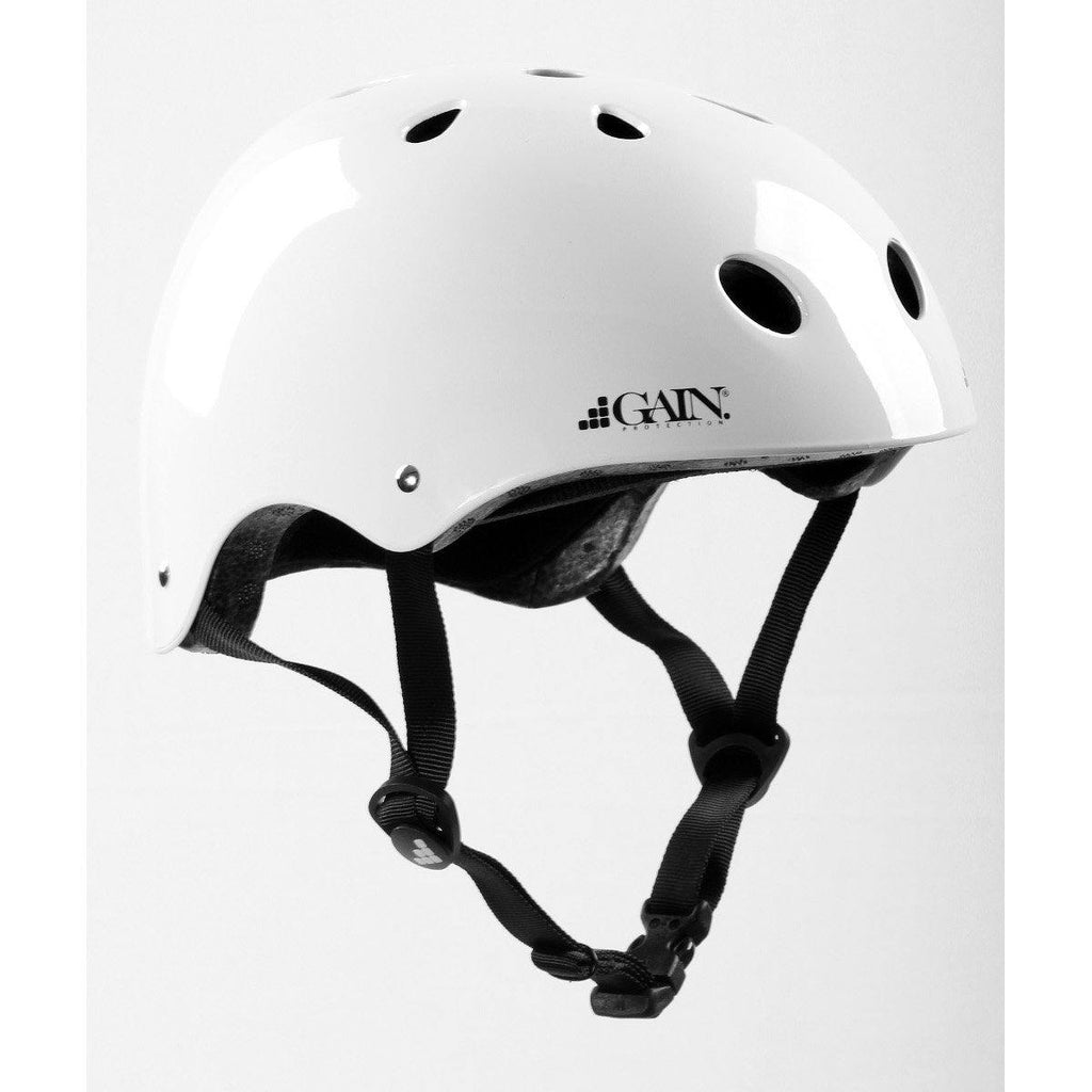 Gain Protection Sleeper Helmet Certified action sports helmets Glossy White