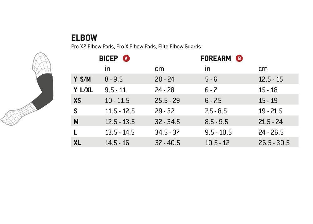 Pumpanickel Sports Shop G-Form Elite Elbow Guards Size Chart
