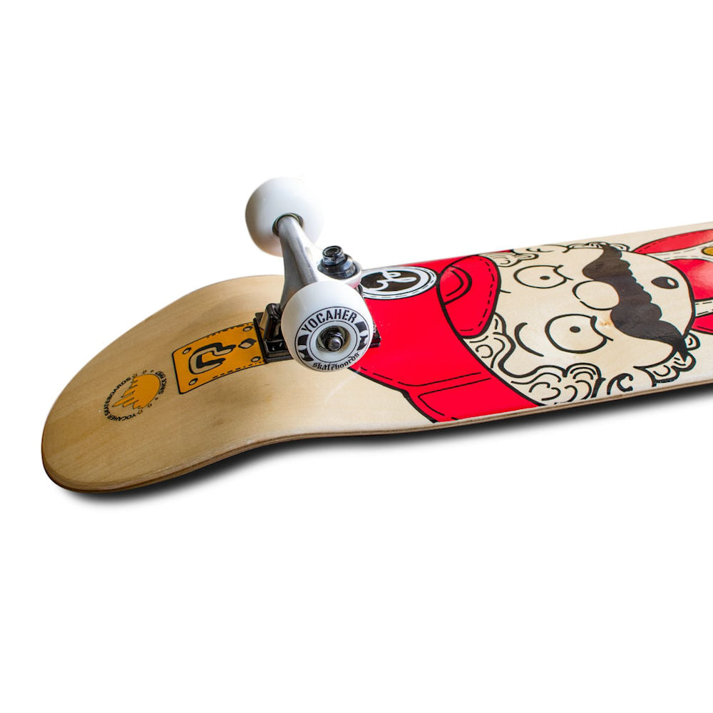 "Pumpanickel Sport Shop Buy Yocaher Singapore. Yocaher Skateboard 7.5"" Retro Series Stache graphic"