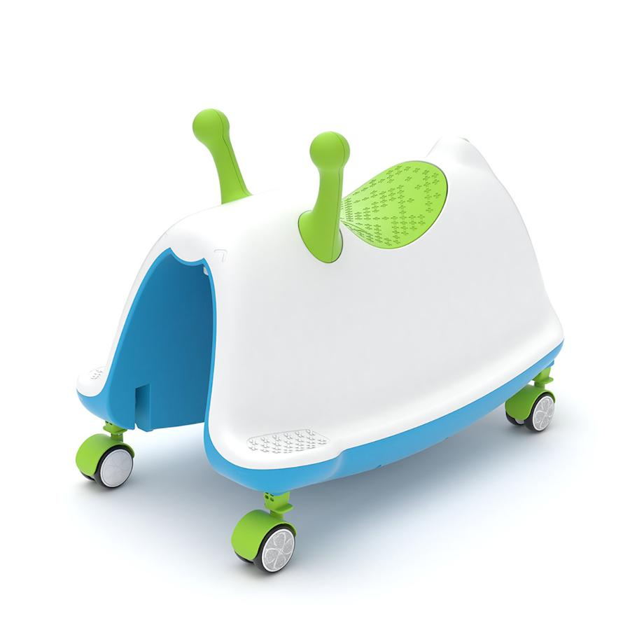 Pumpanickel Sports Shop Buy Chillafish Trackie 3-in-1 Walker Rocker Ride-On for age 1 to 5 Lime Blue for Boys and Girls
